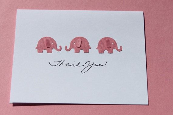 Thank you Cards Baby Shower Elephants Customize w/ by RoyalRegards, $14.00
