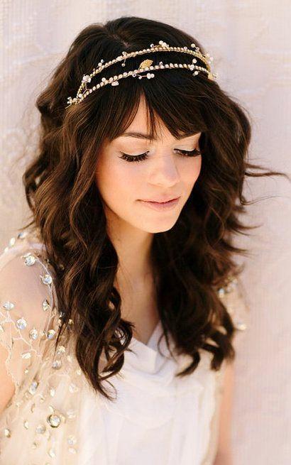 Boho bride's down bridal hair ideas Toni Kami Wedding Hairstyles ♥ ❷ Hair jewelry