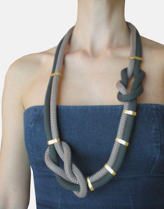 Collana di corda lunga nodo nautico. di MyHandmadeJewels su Etsy, €16.50
