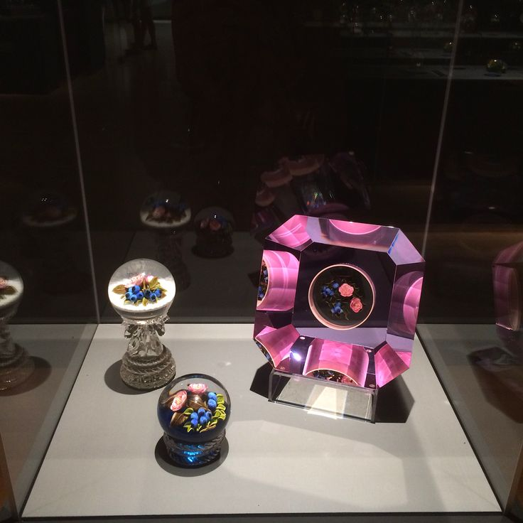 """Our feature of the day is the exhibition """"Glass Within Glass: The Magic of the Trabucco Studio"""".  The exhibition is on view until September 17th, 2017 at the Burchfield Penney Art Center in Buffalo, NY. This past weekend, Molly had the opportunity to visit the museum and has shared some of her photos with us here.  The exhibition not only highlights the impressive work of the Trabuccos, but also displays a selection of paperweights from the Margaret Woodbury Strong Collection."""