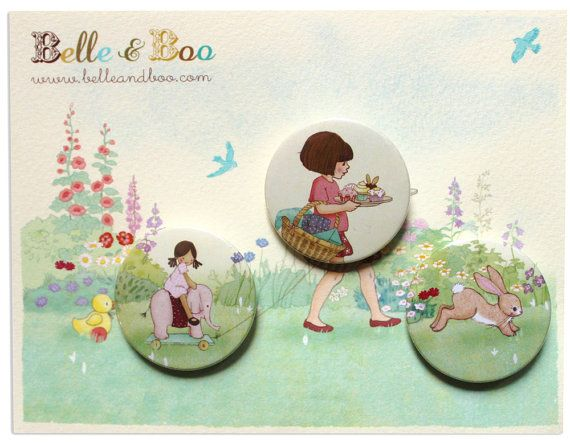 Birthday Surprise Badge Set by belleandboo on Etsy, £4.99