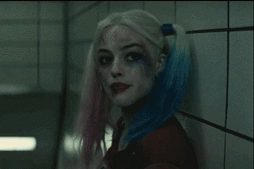 "Harley Quinn (Margot Robbie)… | Watch The Joker And Harley Quinn Get Angry In The ""Suicide Squad"" Trailer"
