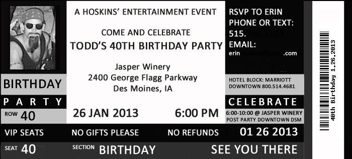 40th Birthday Party - Concert Theme {40 Rocks!}