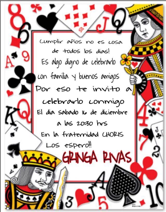 Invitacion Fiestas Tem 225 Ticas De Casino Cumplea 241 Os De Las Vegas Fiesta De Casino