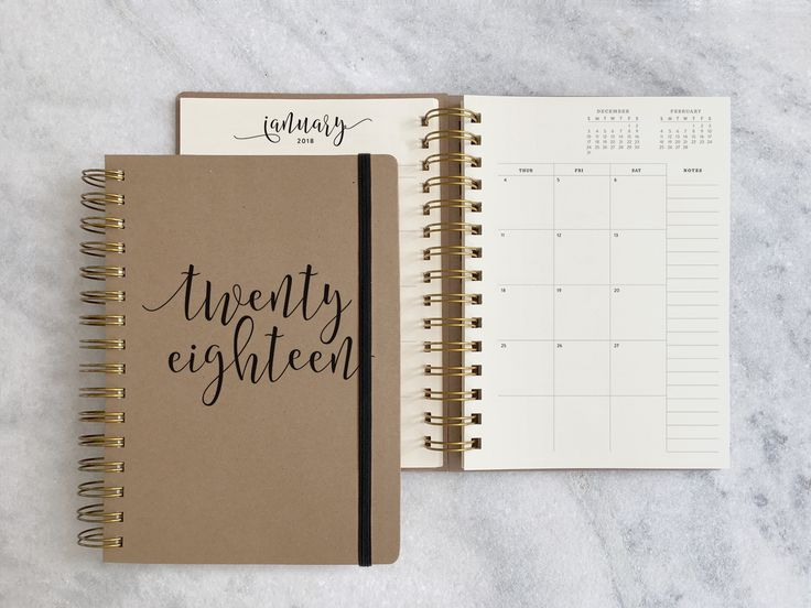 12 -months: August 2017 - July 2018. A simple, elegant 12-month planner thoughtfully made with quality papers. Each book comes with 12 repositionable brass tabs. Interior pages are 70lb text to avoid