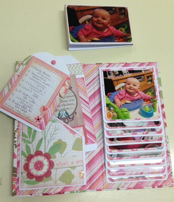 490 best images about mini albums and journals on for Waterfall design in scrapbook