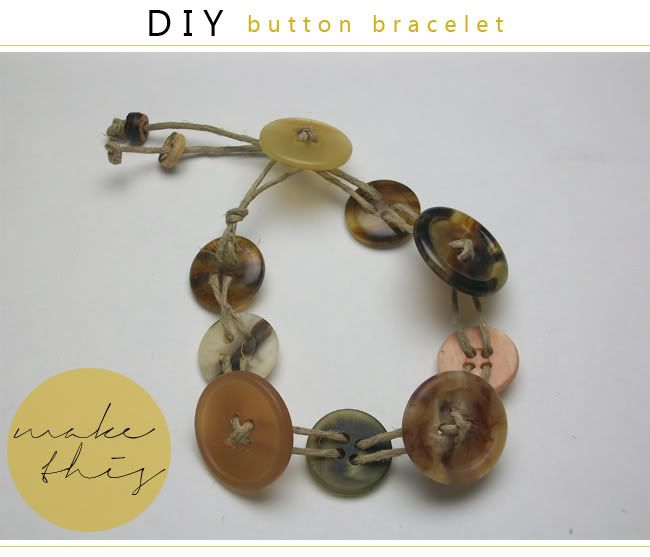 birch & bees: DIY: Button Bracelet... I did actually make one befor pinning & it was very easy to do plus turned out cute!