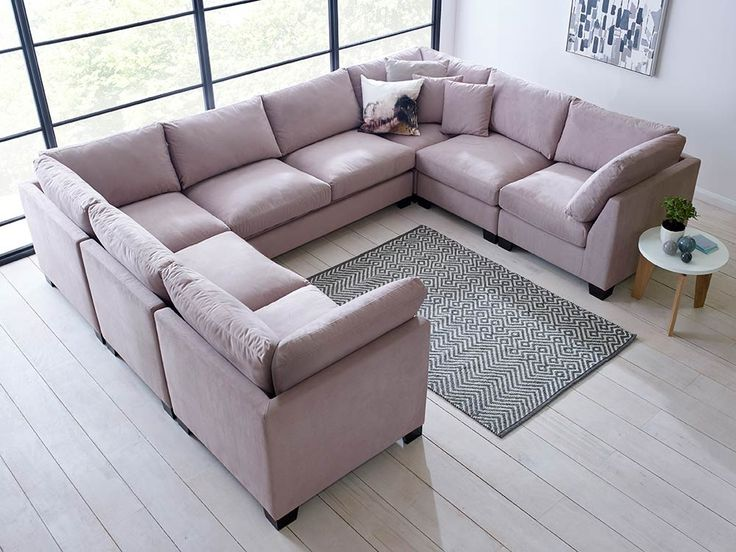 Stunning U Shaped Sectional Sofa Available In Over 30 Different Colours  From, Grey, Beige