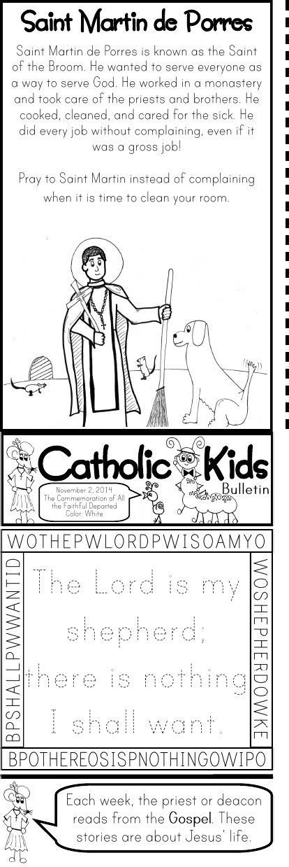 November Catholic Kids Bulletin 2014 Catholic Faith