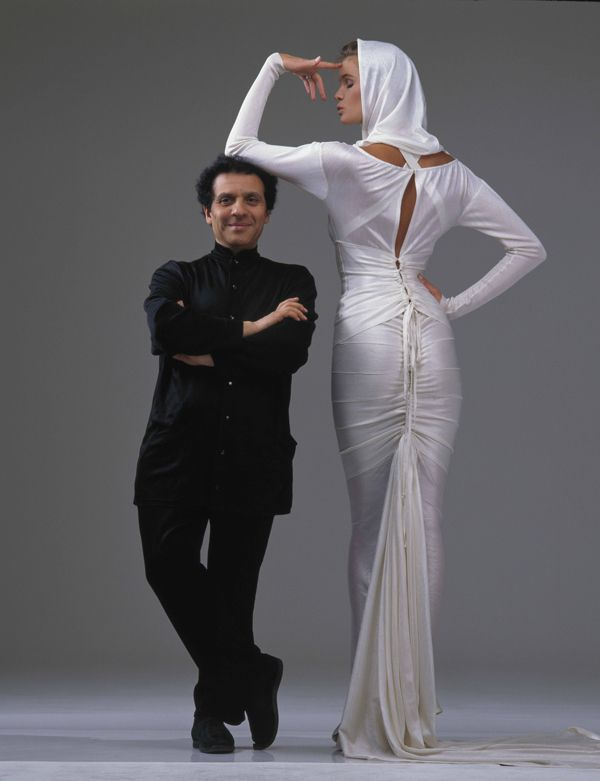 Azzedine Alaia with Elle McPherson photographed by Gilles Bensimon, 1986