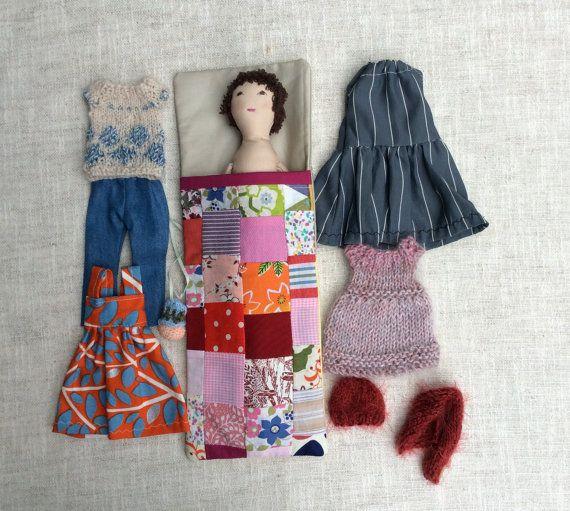 Soft doll in sleeping bag Handmade cloth doll doll от Dollisimo