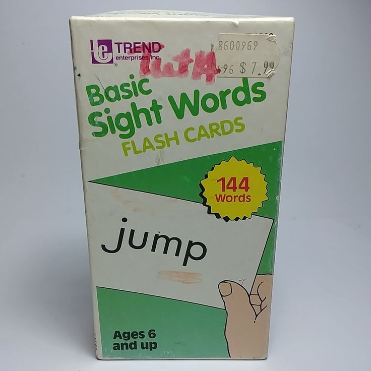 Vintage 1987 Basic Sight Words Flash Cards By Trend, T-1660 - Missing Card #10 #Trend