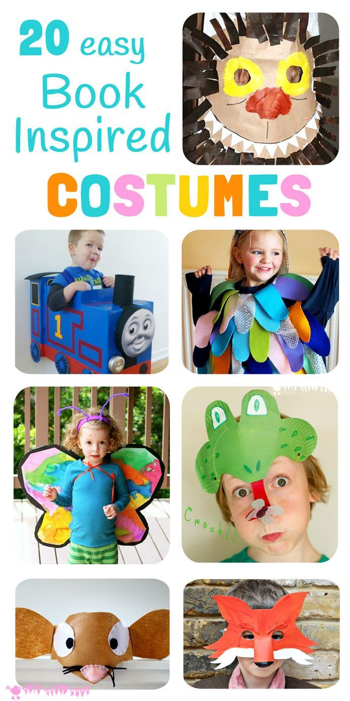 20 easy DIY Book Inspired Costumes perfect for dressing up on World Book Day and Children's Book Week.