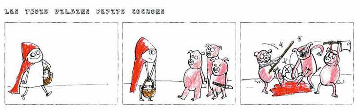 """Extrait des """"Contes falsifiés"""", à paraître. © Astrid Genette"""