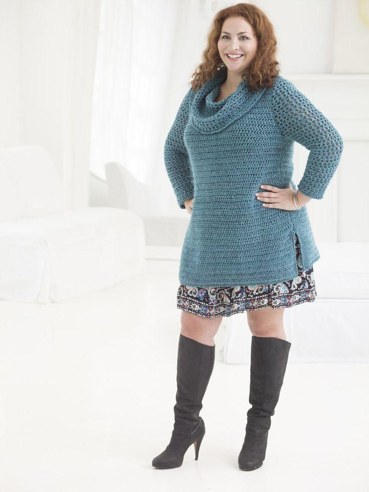 Curvy Girl Crochet Tunic (Crochet) - Patterns - Lion Brand Yarn