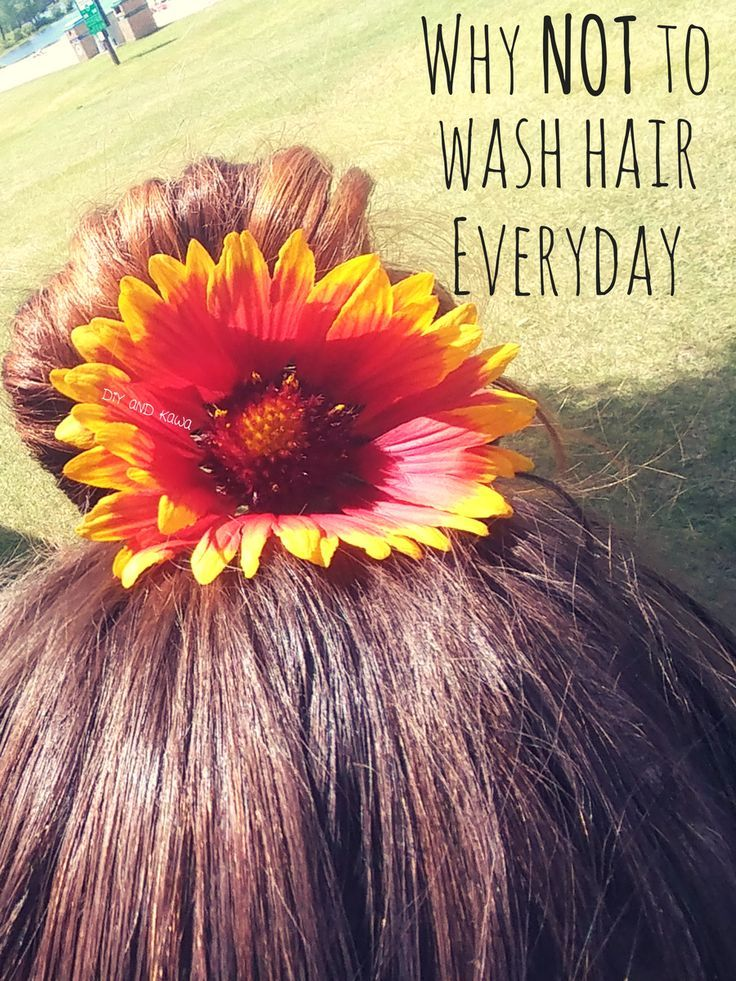 NOT washing hair everyday will result in saved time, more money in your pocket, and healthier hair! So basically a win-win situation!