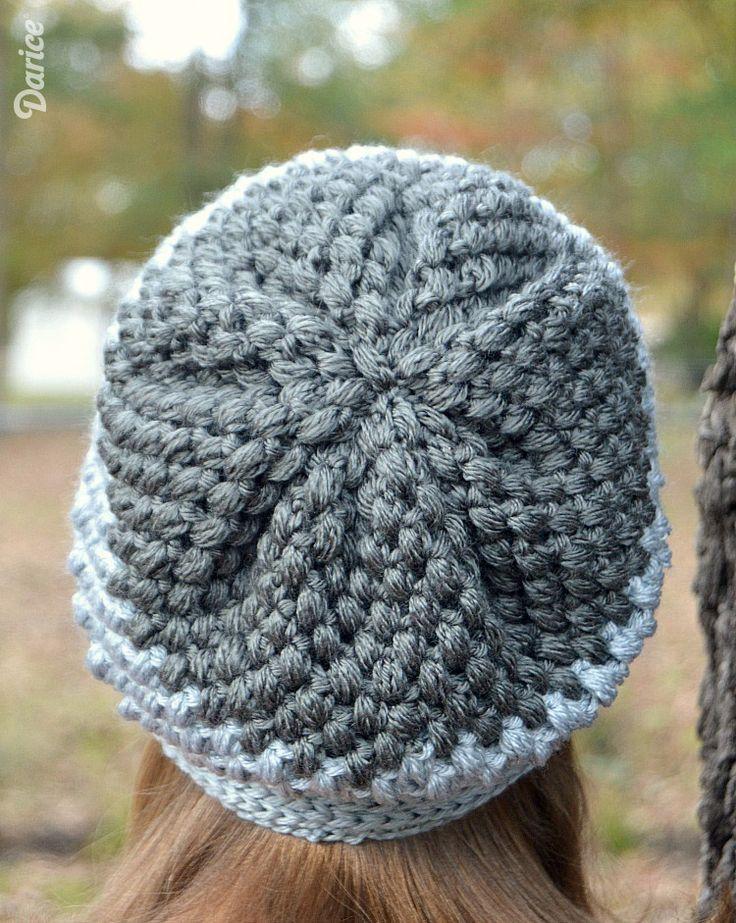 Slouchy Beanie Puff Stitch Crochet Pattern