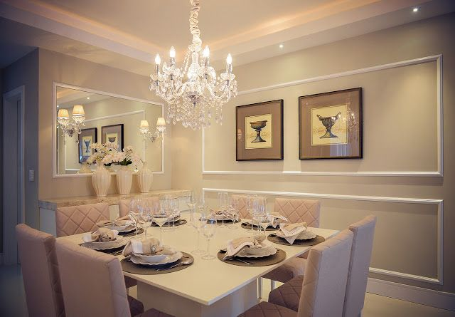 Decor Salteado - Blog de Decoração e Arquitetura : 15 Salas de jantar com lustres clássicos - veja ambientes lindos!