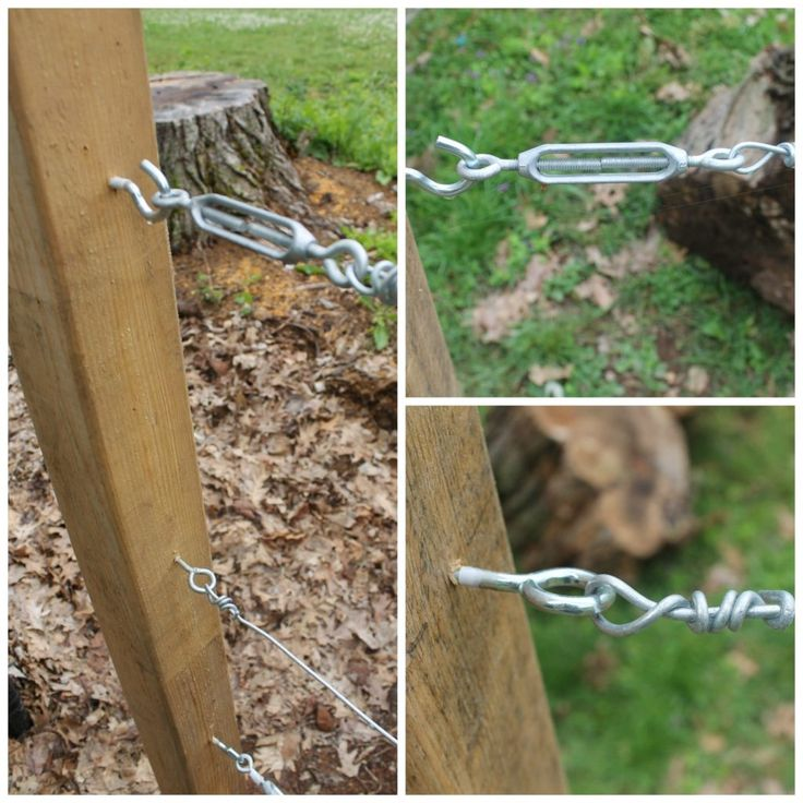 Tension system for wire trellis