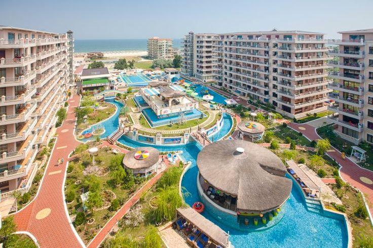 Panoramic view, overview, seaside, sun, summer, fun, pool, pool bar, resort, beach - Phoenicia Holiday Resort, North Mamaia, Constanta, Romania