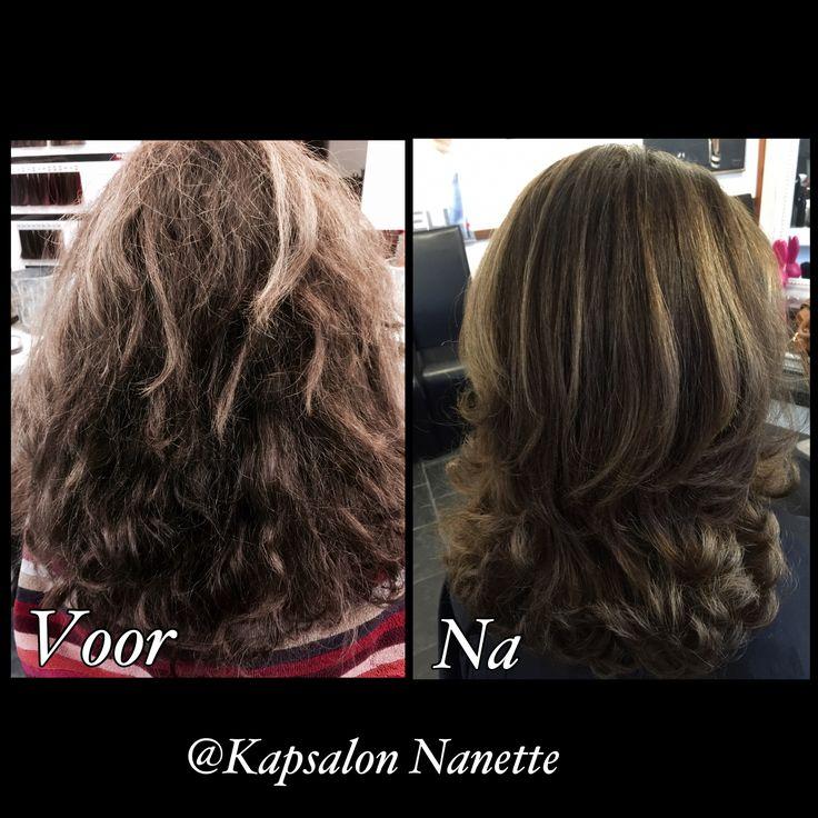 Color and blow dry treatment @ Kapsalon Nanette