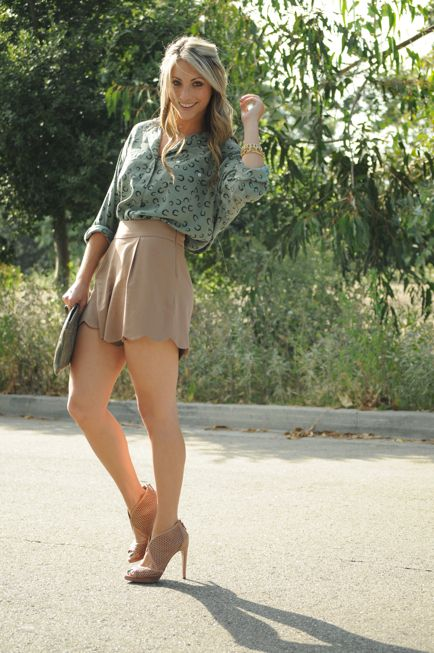 dressy shorts and blouse