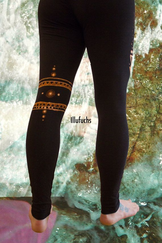 Yoga/Goa gebleekt legging fitness broek van DerIllufuchs op Etsy