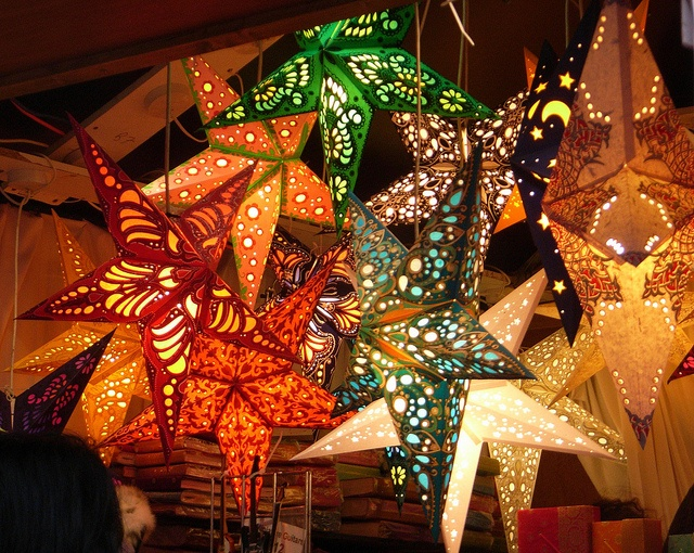 44 best star lanterns paper crafts images on pinterest paper paper filigree star lanterns above dining table maybe aloadofball Gallery
