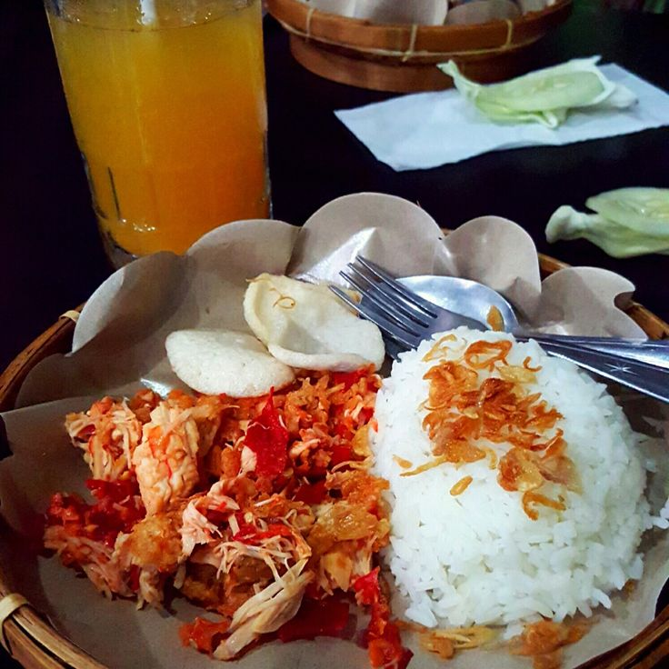 Nasi ayam suwir at foodland
