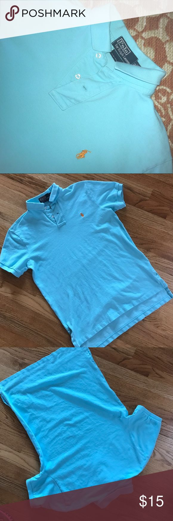 Polo Shirt Light turquoise colored polo   Custom fit. Polo by Ralph Lauren Shirts Polos