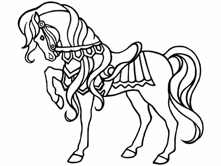a little hard horse coloring pages for girls