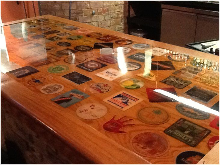 44 best images about bar on pinterest epoxy coating for Table top display ideas