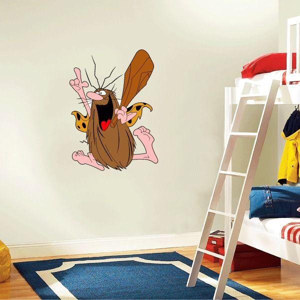 "Captain Caveman Cartoon Kids Wall Decor Sticker Decal 18"" x 25""  | eBay"