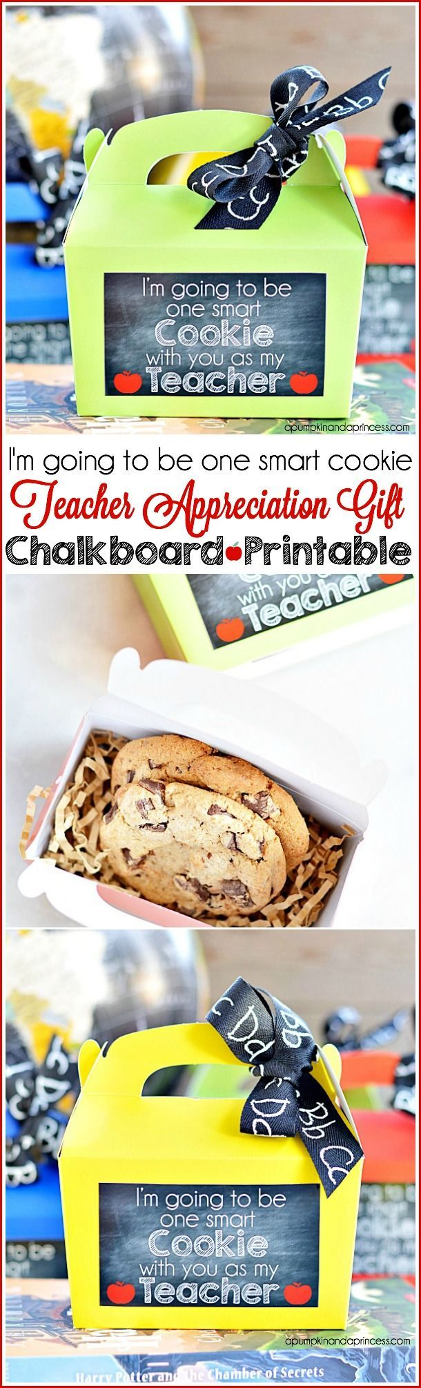 "Back to school teacher gifts - ""I'm going to be one smart cookie"" printable #MichaelsMakers"