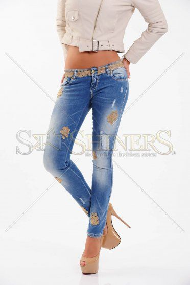 Jeans Mexton Cute Flowers Blue