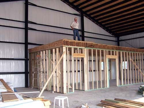 Metal buildings metal building prefab metal building for Metal building interior ideas