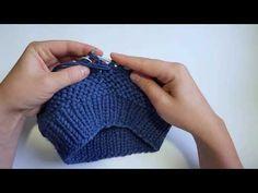 Незаметный стык рядов (платочная вязка по кругу) - YouTube