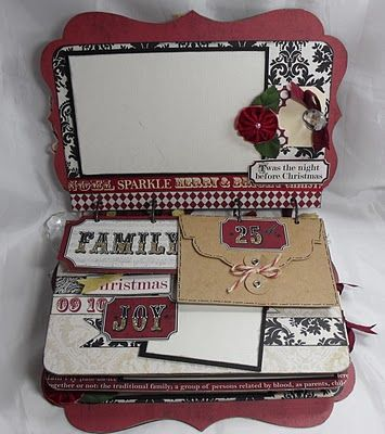 Crafting with Class: Handmade Christmas Album. My family has everything..and the holidays are hard to do! Last year I made a spa basket which was a huge success...I am thinking mini albums this year..maybe a few...