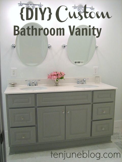 Look at the gorgeous bathroom vanity! Read how Michelle of the Ten June blog modified the vanity to her excellent taste, and then installed it. Great tips and inspiration.