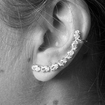 Brinco de Prata Contorno de Orelha (Ear Cuff) - 29303