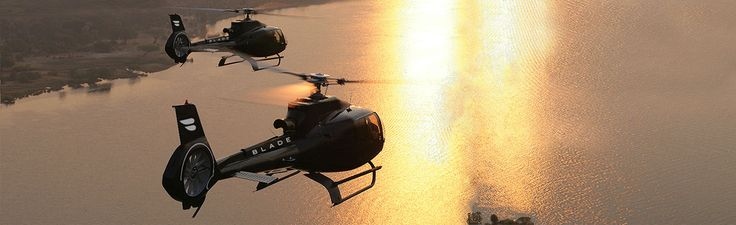 Blade-app for helicopter service from Manhattan to the Hamptons