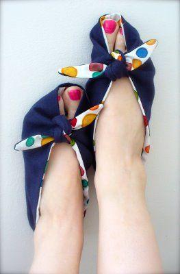 DIY: The Ellie Tie-On Slippers