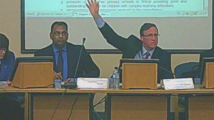 Cabinet 17th December 2014 vote to close Lyndale School L to R Shirley Hudsepth Surjit Tour Cllr Phil Davies Graham Burgess
