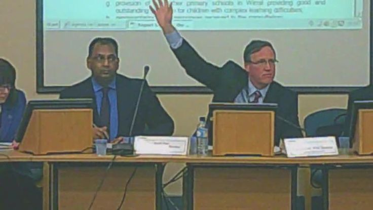 Cabinet 17th December 2014 vote to close Lyndale School L to R Shirley Hudsepth Surjit Tour Cllr Phil Davies Graham Burgess