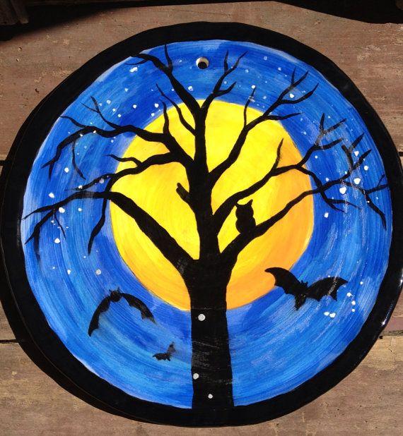 halloween wall plate on etsy 2500 - Halloween Ceramic Plates