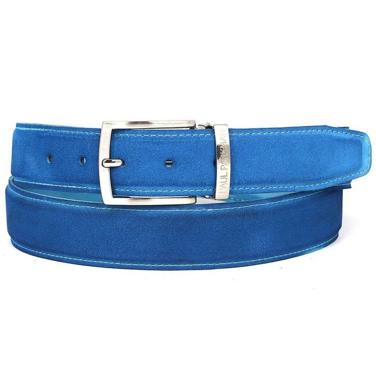 Blue suede to match the color of your Paul Parkman shoes. Size may be adjustable from the buckle. This is a made-to-order product. Please allow 15 days for the