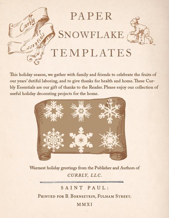 Print-and-cut paper snowflake templates! #DIY