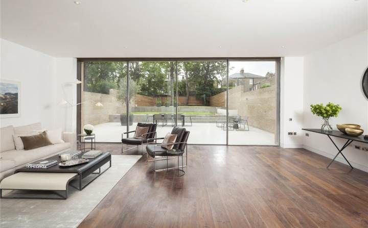 A nice mix of wood and contemporary furnishings