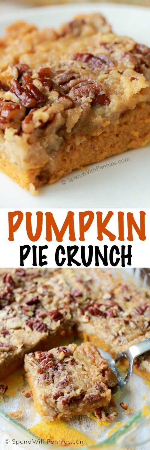 Pumpkin Pie Crunch is the easiest way to serve pumpkin pie to a crowd! A rich…