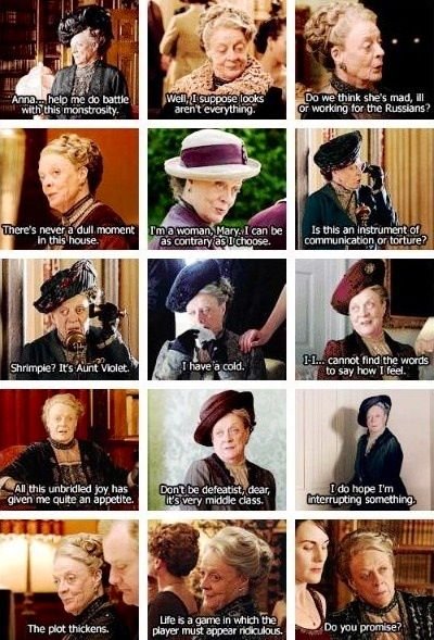 The greatest Dowager Countess (Maggie Smith) moments.